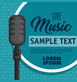 musical concert label with microphone vector image vector image