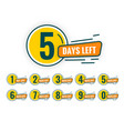 number days left counter abstract design vector image vector image