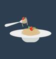 pasta spaghetti vector image vector image