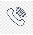phone connection concept linear icon isolated on vector image
