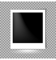 Photoframe on Checkered Background vector image