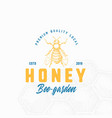 premium local honey sign symbol or logo template vector image
