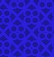 Retro 3D bright blue waves and circles vector image vector image