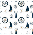 sailboat on the waves beacon anchor steering vector image