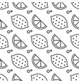 seamless fruit pattern lemons and oranges vector image