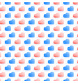 seamless isometric pattern geometric flat blue vector image vector image