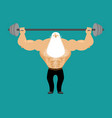 senior man athlete and barbell strong grandfather vector image vector image