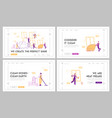 service professional cleaners work landing page vector image vector image