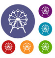 singapore flyer tallest wheel in the world icons vector image vector image