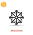snowflake icon simple flat style vector image vector image