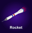 space rocket icon isometric style vector image vector image