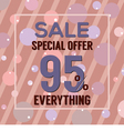 Special Offer 95 Percent On Dark Pink Bubbles vector image