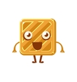 Square Simple Butter Biscuit Sweet Dessert Pastry vector image