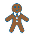 sweet ginger cookie icon vector image