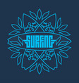t-shirt print with surfboards and elegant floral vector image