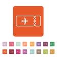 The blank ticket plane icon Travel symbol Flat vector image vector image