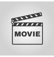 The clapper board icon Movie symbol Flat vector image