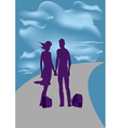 Travel He and she vector image vector image
