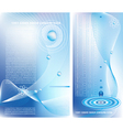 two business backgrounds vector image vector image