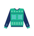ugly christmas sweater with snowflake pattern vector image vector image