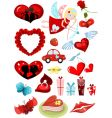 valentines design elements set vector image vector image