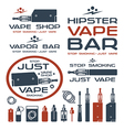 Vapor bar and vape shop logo vector image