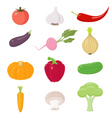 vegetables icons ste vector image vector image