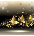 whirlwind of butterflies vector image vector image