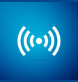 wi-fi network symbol icon on blue background vector image vector image