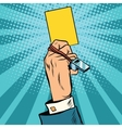 yellow card warning business concept vector image vector image
