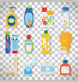 hygiene flat icons on transparent background vector image