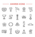 simple set of awards related line icons vector image