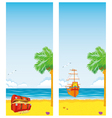 sea and islands vector image