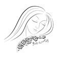 beauty girl face vector image