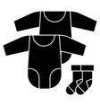 baby dress rompers and socks icon vector image