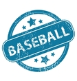 BASEBALL round stamp vector image
