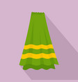 bath towel icon flat style vector image