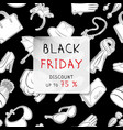 black friday square banner fashion accessories in vector image vector image