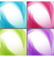 Bright wavy arrows backgrounds collection vector image vector image