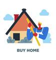 buy home human need guy and house sociology vector image vector image