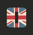 capital number zero with uk flag texture isolated vector image vector image