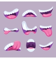 Cartoon mouths expressions set vector image vector image
