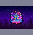 casino royal neon logo casino neon sign vector image vector image
