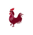 chicken or hen for logo design rooster symbol vector image