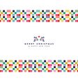 christmas and new year abstract border decoration vector image vector image