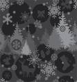 christmas background in gray colors vector image vector image