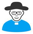 church shepherd flat icon vector image vector image
