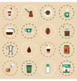 Coffee Flat Icons Set vector image vector image