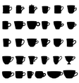 Coffee silhouettes Cups vector image