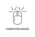 computer mouse line icon computer mouse vector image vector image